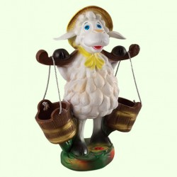 Подставка для цветов Овца с ведрами