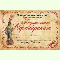 Подарочный сертификат на 750 грн.