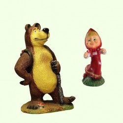 Скульптуры Маша и Медведь