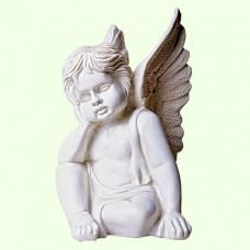 Садовая фигура Ангелок мечтающий