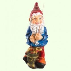 Садовая фигура Гном рыбак
