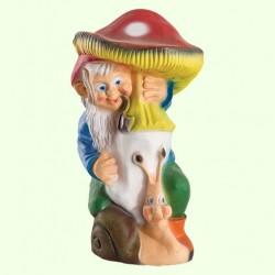 Садовая фигура Гном с грибом