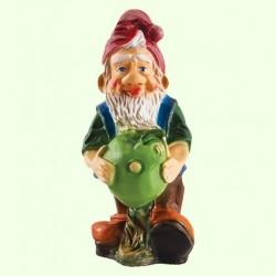 Садовая фигура Гном с яблоком (М)