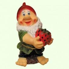 Садовая фигура Гном с клубникой (Ср)