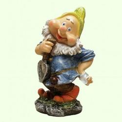 Садовая фигура Гном с лопатой (М)