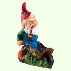 Садовая фигура Гном с тачкой (М)