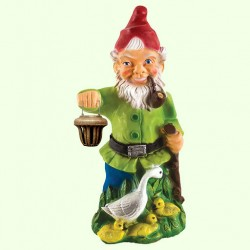 Садовая фигура Гном с уткой