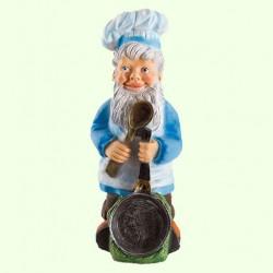 Садовая фигура Гном со сковородой