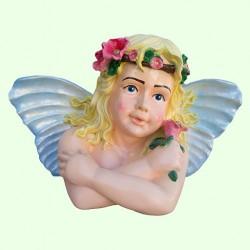 Садовая фигура Эльфина с розой