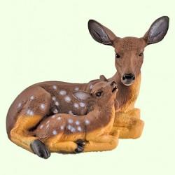 Садовая фигура Косуля с малышом