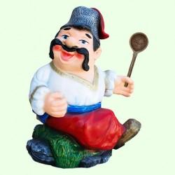 Садовая фигура Козак с ложкой