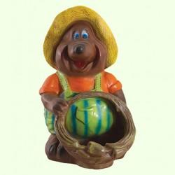 Садовая фигура Крот с корзиной