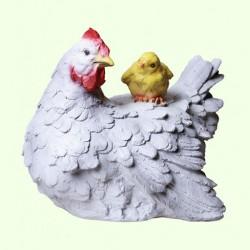 Садовая фигура Курица с цыпленком