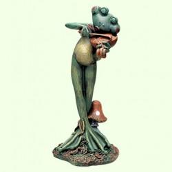Садовая фигура Лягушка скрипач