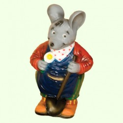 Садовая фигура Мышь с лопатой