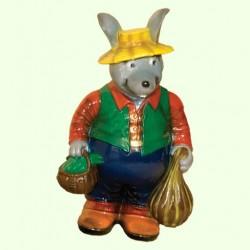 Садовая фигура Мышь с тыквой