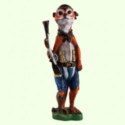 Садовая фигура Суслик с ружьем