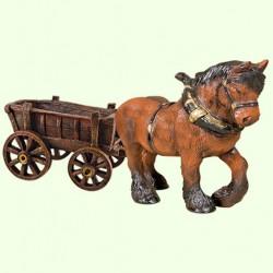 Садовые фигуры Лошадь (Ср) с телегой