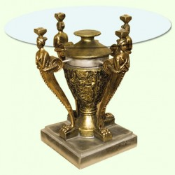Стеклянный столик Амфора (Б)