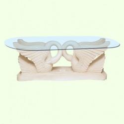 Стеклянный столик Лебеди