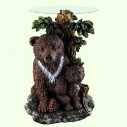 Стеклянный столик Медведь с медвежонком (А)