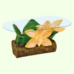 Стеклянный столик Орхидея