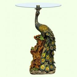 Стеклянный столик Павлин (А)