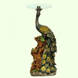 Стеклянный столик Павлин (Б)