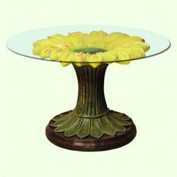 Стеклянный столик Подсолнух