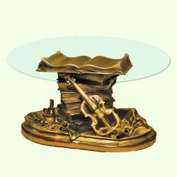 Стеклянный столик Скрипка