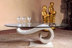 Стеклянные столики в домашнем интерьере