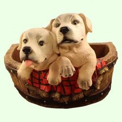 Подставка для цветов Два щенка