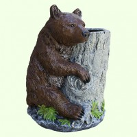 Подставка для цветов Медведь с кадкой