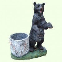 Подставка для цветов Медведь с пеньком