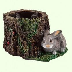 Подставка для цветов Пенёк с зайцем