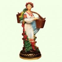 Подставка для цветов Украинка с коромыслом