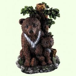 Фонтан для садового пруда Медведь с медвежонком
