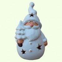 Новогодний подсвечник Дед Мороз с елкой Ср