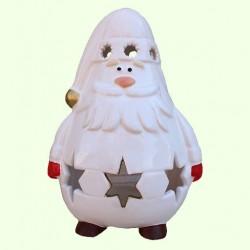 Новогодний подсвечник Дед Мороз со звездами