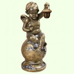 Садовая фигура Ангел с фонарем