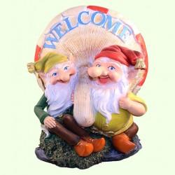 Садовая фигура Два гнома с грибом