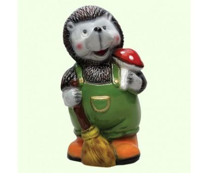 Садовая фигура Ежик с метлой