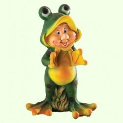 Садовая фигура Гном-лягушонок