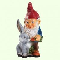 Садовая фигура Гном с зайцем (М)