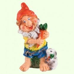 Садовая фигура Гном с зайцем (Ср)