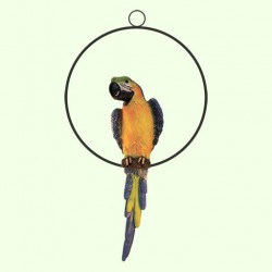 Садовая фигура Кольцо с попугаем