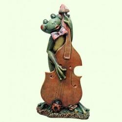 Садовая фигура Лягушка с контрабасом
