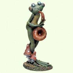 Садовая фигура Лягушка саксофонист