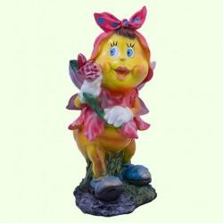 Садовая фигура Мотылек с розой