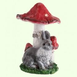 Садовая фигура Мухомор с зайцем